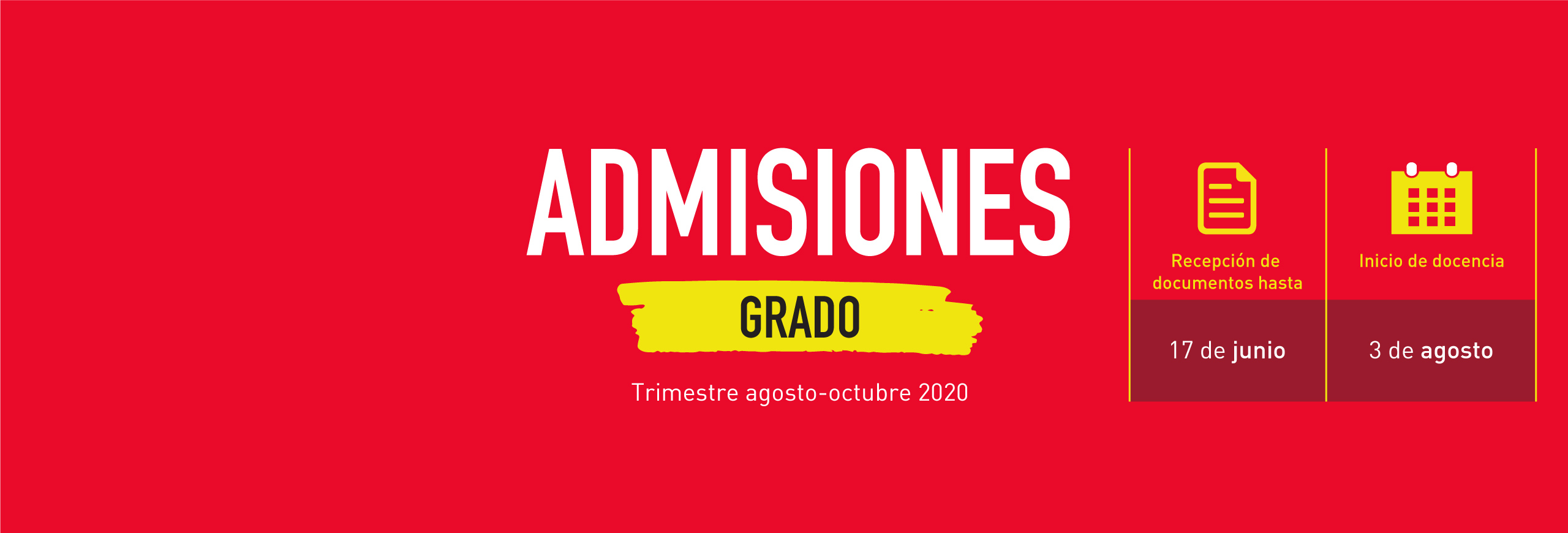 Admissions of degree